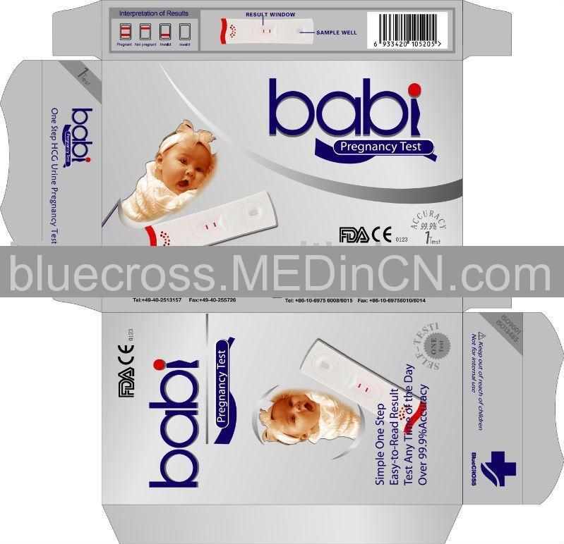 One Step HCG Urine Pregnancy Test