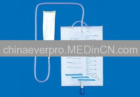 disposbale external drainage bag (condom catheter)