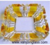 Yellow&Clear Glass Ashtray