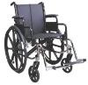 Steel wheelchair Coated in black