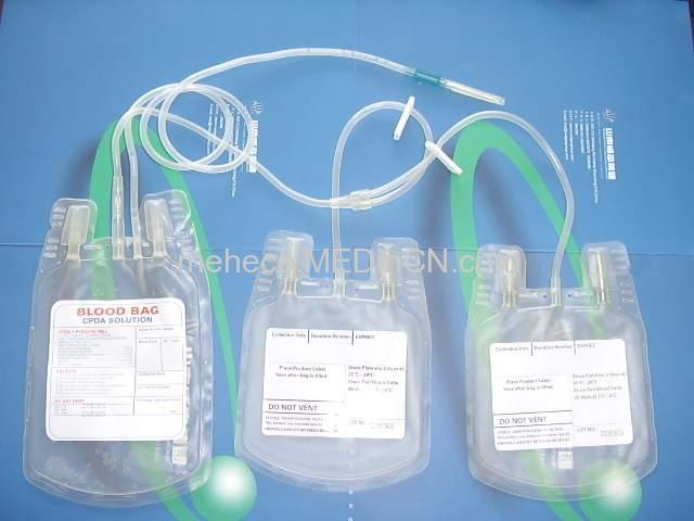 quadritriple blood bag, 450ml,WELDING FILM,keep blood platelet 3 days