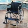 Steel wheelchair with hard cushion/economic wheelchair