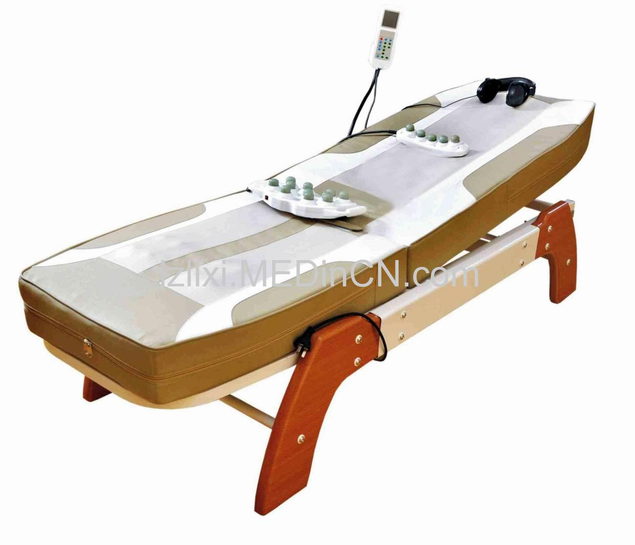 Jade massage bed with auto lift
