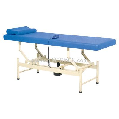 Electric exam table with pillow