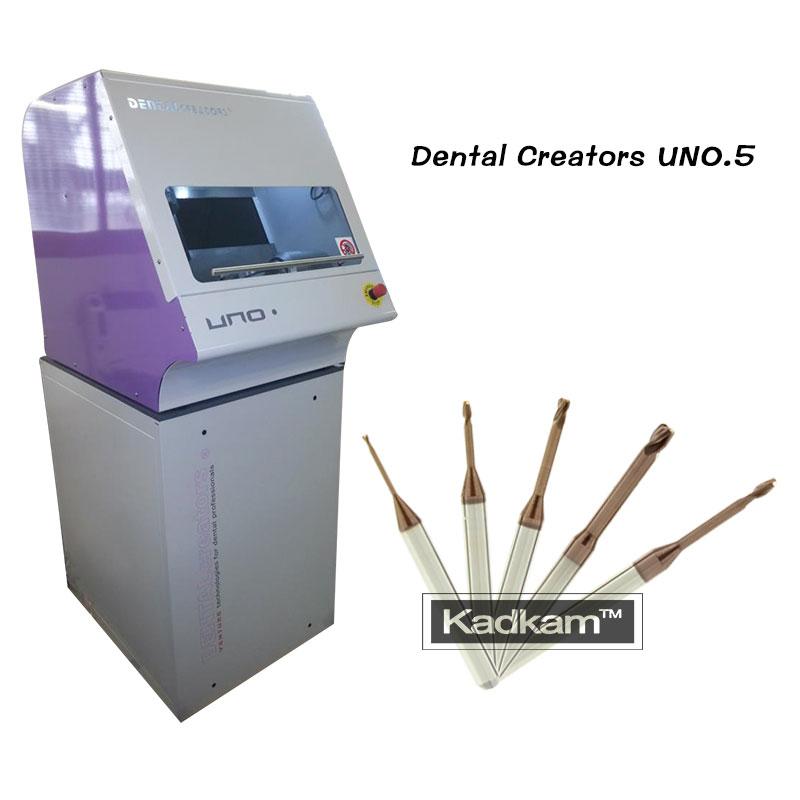 Dental Creators UNO.5 milling burs for titanium blocks milled