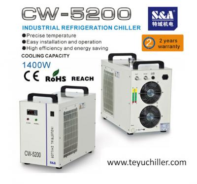 chiller CW5200 with double output for dual laser cooling