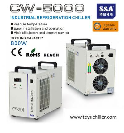 air cooled chiller CW-5000 for chemical and laboratory