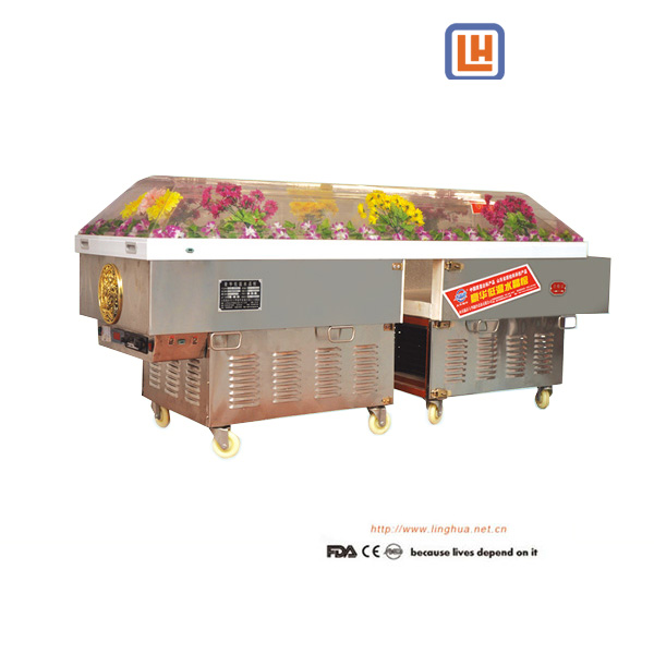 Funeral equipment Spit Funeral Display Corpse Refrigerator,Body Ice Box,Air-Condition Coffin ,Morgue refrigerator for Dead Body Storage