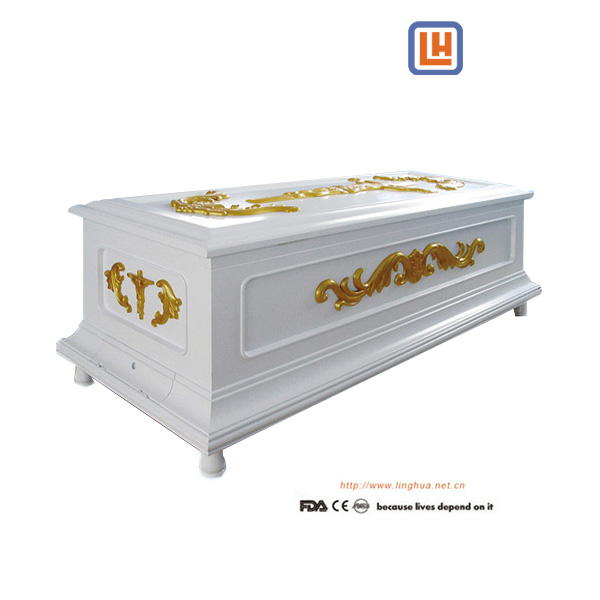 European Funeral Wooden Display Air-Condition Coffin,Corpse