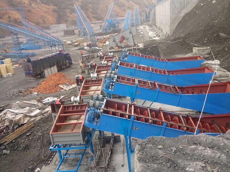 Energy saving sand and stone production line